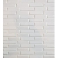 3D самозалепващ стикер Oblique brick design, бял