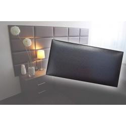 !!!СУПЕР ЦЕНА!!! Декоративен панел от изкуствена кожа 50х25cm 90727 ЧЕРЕН