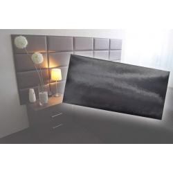 !!!СУПЕР ЦЕНА!!! Декоративен панел от изкуствена кожа 50х25cm 90728 ЧЕРЕН
