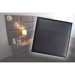 !!!СУПЕР ЦЕНА!!! Декоративен панел от изкуствена кожа 50х50cm 90727 ЧЕРЕН